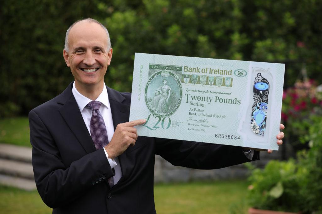 boi note - Bank of Ireland UK unveils new polymer £20 note